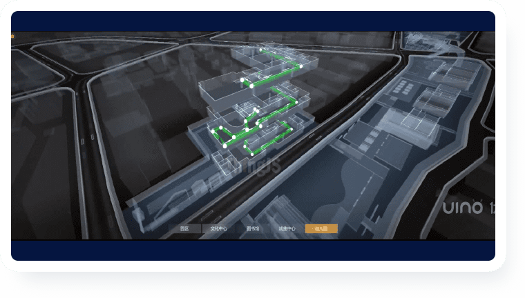 校园地下管网智能管理平台-校园地上三维场景可视化
