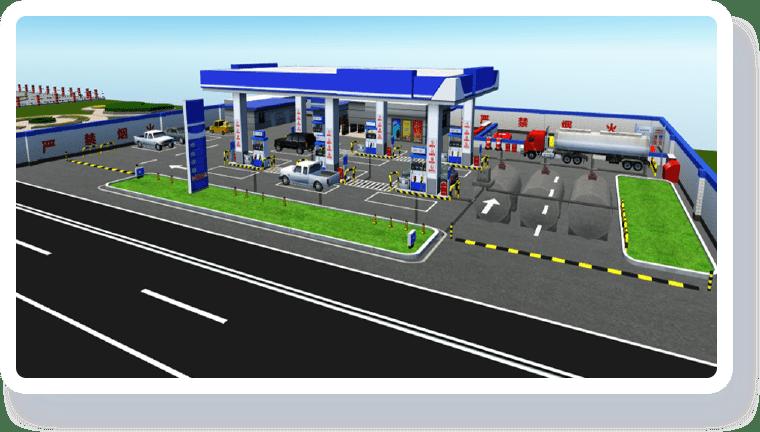 智慧加油站解决方案-环境可视化
