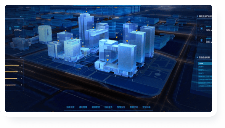 智慧园区可视化解决方案-风格炫酷科技 提升园区形象