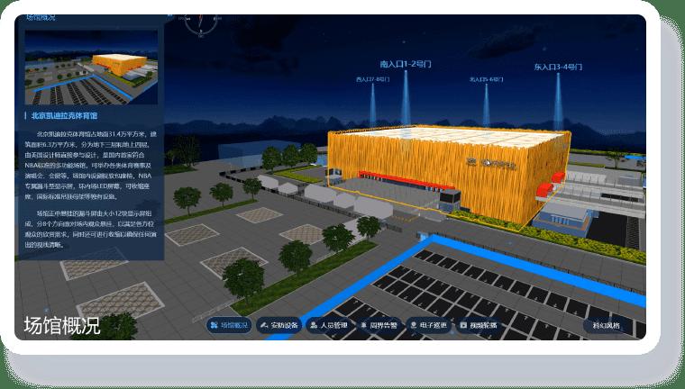 智慧场馆可视化解决方案-三维可视化 直观掌握场馆环境