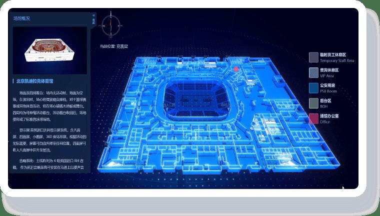 智慧场馆可视化解决方案-数字化体验方式 展示场馆实力